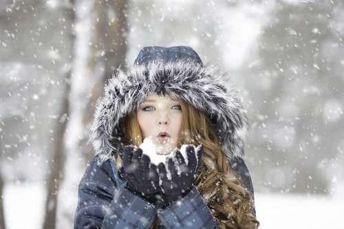 Winter Redhead Female Portrait Cold Girl Outdoor