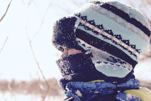 Winter Hat Girl Snow Season Ski-Ing Holiday Cold