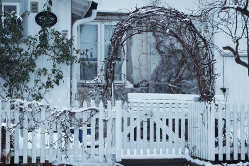 Winter Christmas Outdoor House Decoration White