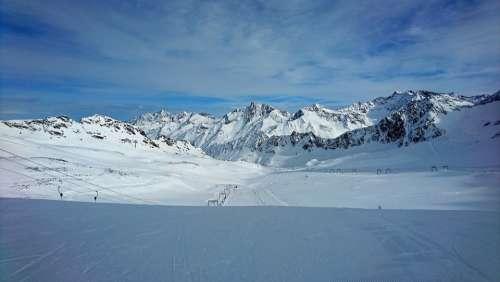 Winter Ski Skiing Wintry
