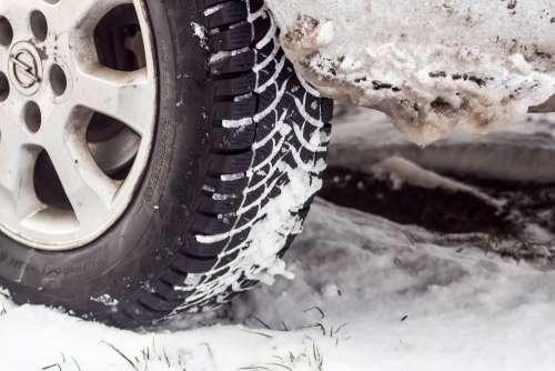 Winter Snow Frost Car Tire Way Zaspa Wet Snow