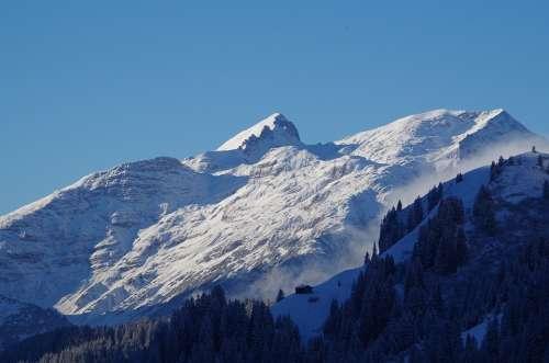 Winter Snow Cold Nature Landscape Alpine Wintry