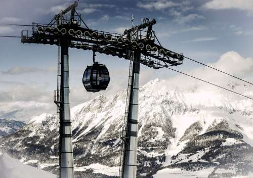 Winter Lift Gondola Nature Austria Tyrol Alpine