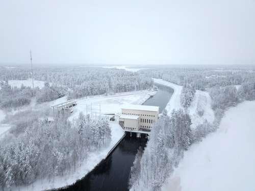 Winter Ice Cold Landscape Snow Frozen River