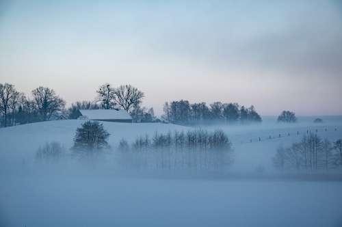 Winter Poland Masuria Landscape Snow View Frost