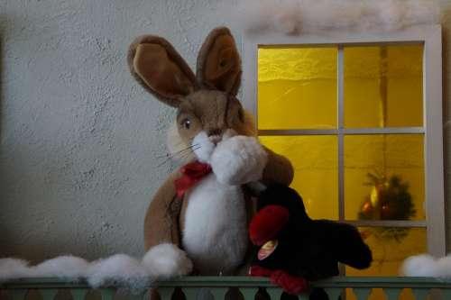 Winter Hare House Illuminated Lighting Christmas