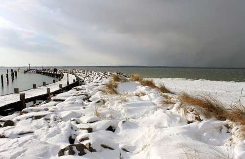 Winter At Sea Baltic Sea Insel Poel