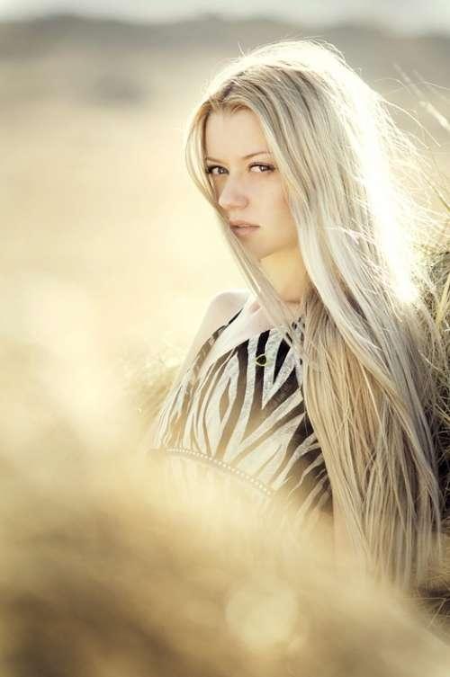 Woman Portrait Girl Blond Hair Beauty Face