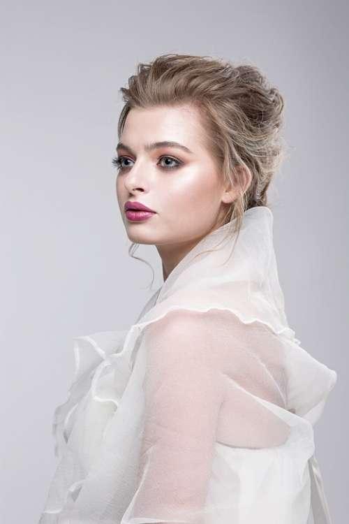 Woman Fashion Young Model Girl Portrait Hair