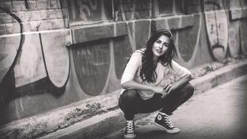 Woman Girl Crouching Female Leisure People Adult