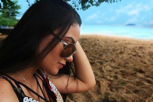 Woman Beach Mar Ocean Girl Summer Water Holidays