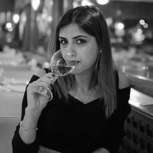 Woman Model People Drinking Wine Glass Wine Glass