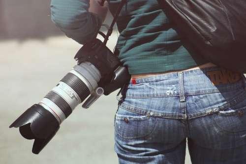 Woman Photographer Sexy Butt Behind Bums Bottom