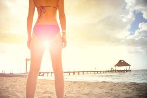 Woman Bikini Feminine Relaxation Tranquility