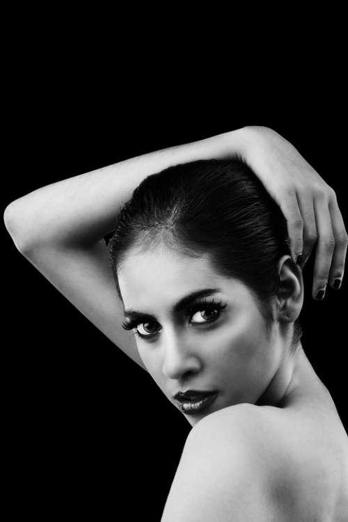 Women Model Beauty Portrait Black And White Naked