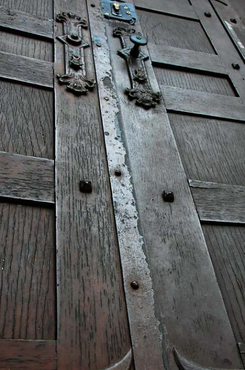 Wood Old Wood Wooden Door Background Structure Old