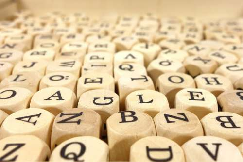 Wood Cube Abc Cube Letters Alphabet Soup Toys