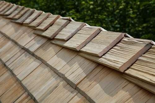 Wood Shingles Shingle Roofing Roof Ridge Craft