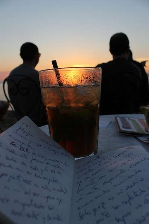 Words Writings Loneliness Lights Sunset