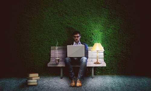 Work Workaholic Writer Programmer One Laptop