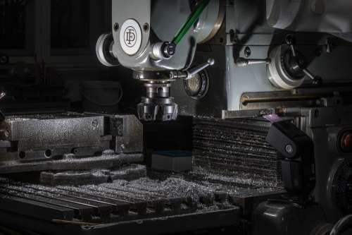 Workshop Milling Machine Milling Metal Tool Chips