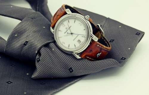 Wrist Watch Clock Tie Mens Man Men'S Accessory