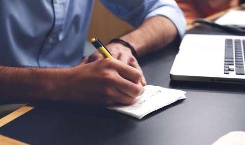 Write Plan Desk Notes Pen Writing Taking Notes