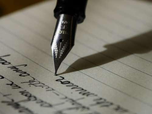 Writing Write Fountain Pen Ink Scribe Handwriting