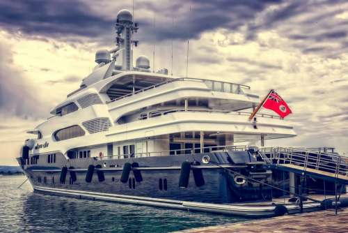 Yacht Ship Boat Luxury Port Luxurious Anchorage