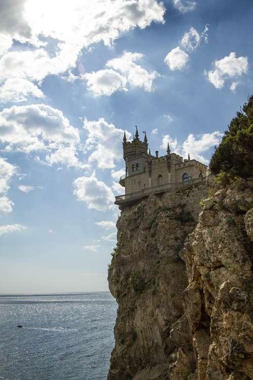 Yalta Swallow'S Nest Sky Park Landscape Clouds