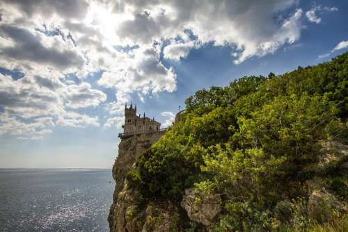 Yalta Swallow'S Nest Sky Park Landscape Clouds