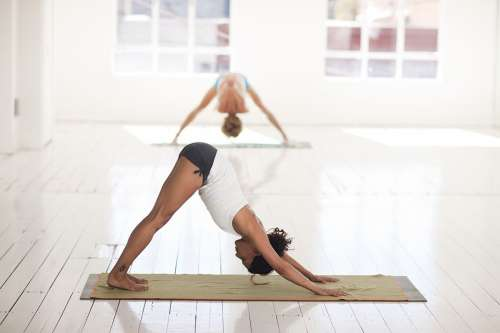 Yoga Stretching Pose Fitness Girl Woman Sports