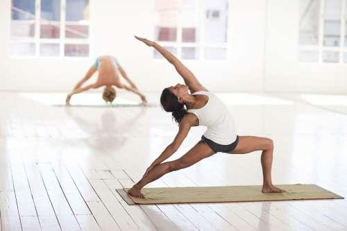 Yoga Asana Pose Hatha Woman Girl Stretching