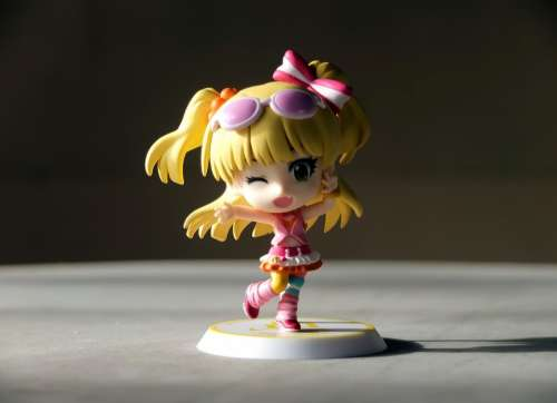 Young Girl Student Female Toy Figurine Small