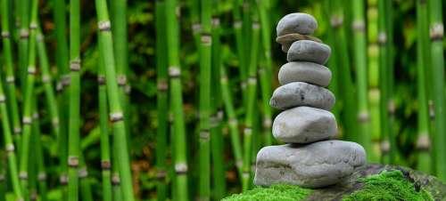 Zen Garden Meditation Monk Stones Bamboo Rest