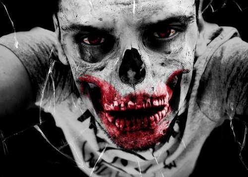 Zombie Horror Monster Bone Death Injured Accident