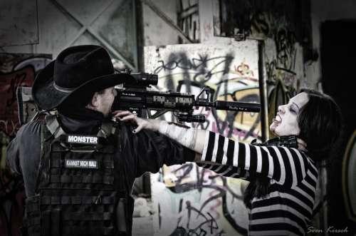 Zombie Shot Violent Rifle Kill Defense Undead