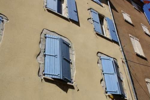 shuttered windows in France