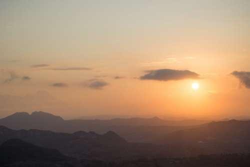 Beautiful sunset in San Marino