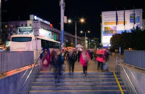 Pedestrians in Warsaw