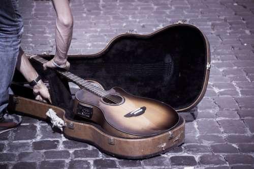 Picking up a guitar