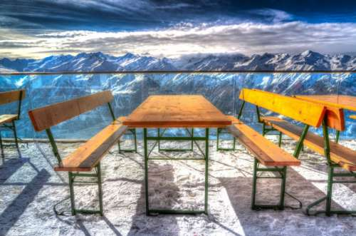 Restaurant in the Alps