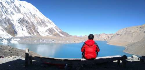 Man at Tilicho Lake