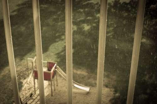 Sun, rain and the playground
