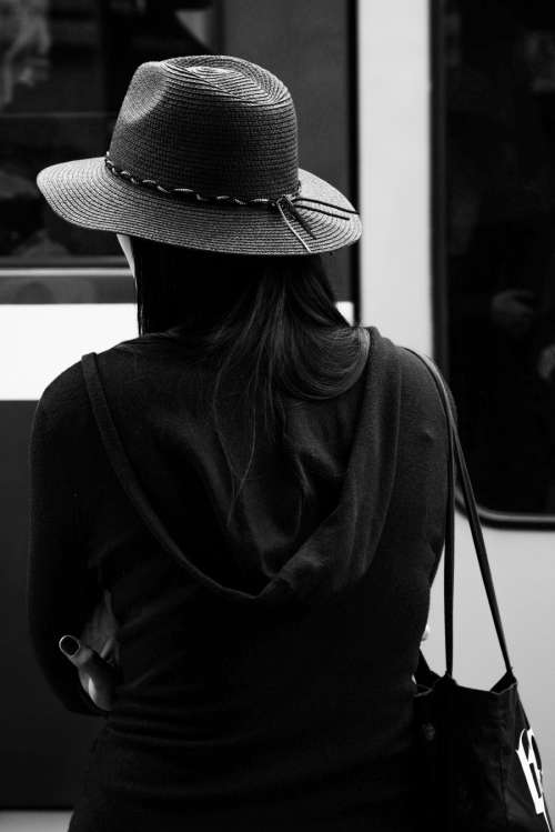 The woman and the hat