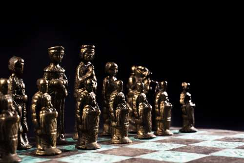 Chess Pawns Lined Up Photo