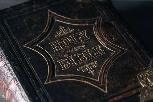 Embossed Leather-Bound Bible Photo