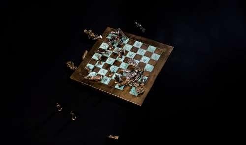 Fallen Chess Pieces Photo