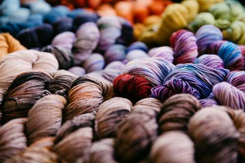 Hills Of Yarn Photo