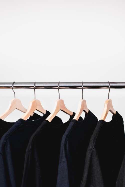 Rail Of Black Sweatshirts Photo